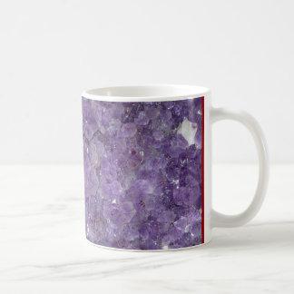 紫色のGeode -すみれ色の水晶宝石用原石 コーヒーマグカップ