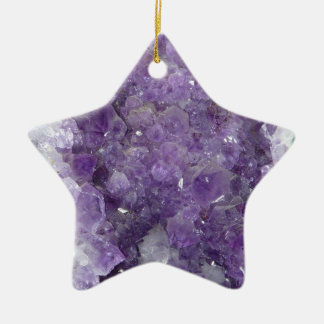 紫色のGeode -すみれ色の水晶宝石用原石 セラミックオーナメント