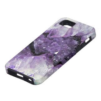 紫色のGeode 3DのiPhone 5の箱Personalize* iPhone SE/5/5s ケース