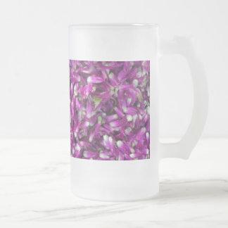 紫色のGomphrena フロストグラスビールジョッキ