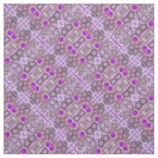 紫色のHamsa ファブリック