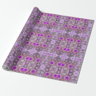 紫色のHamsa ラッピングペーパー