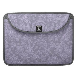 """紫色のHenna 15"""" Macbookのプロ袖 MacBook Proスリーブ"""