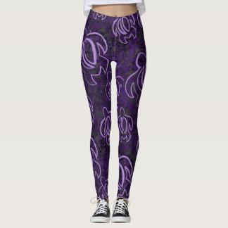紫色のHonu レギンス