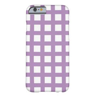 紫色のiPhone 6つのケース-格子点検 Barely There iPhone 6 ケース