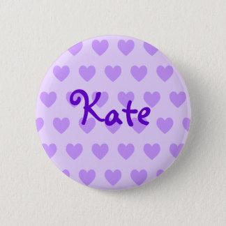 紫色のKate 5.7cm 丸型バッジ