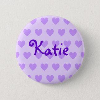 紫色のKatie 5.7cm 丸型バッジ