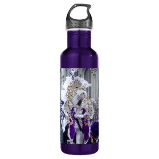紫色のMardis Grasのズールー王 ウォーターボトル