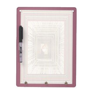 紫色のMettalicのボーダーn無限トンネル ホワイトボード