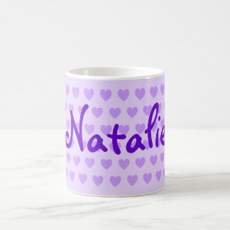 紫色のNatalie コーヒーマグカップ