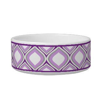 紫色のOgee小さい陶磁器犬ボール ボウル