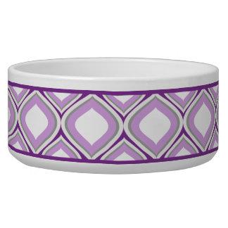 紫色のOgee陶磁器犬ボール