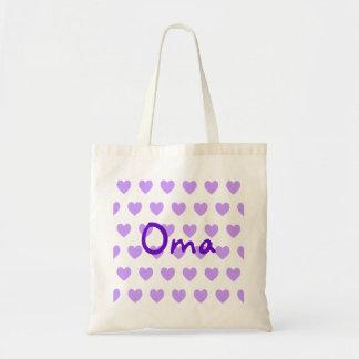 紫色のOma トートバッグ