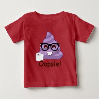 紫色のOopsウンチ ベビーTシャツ