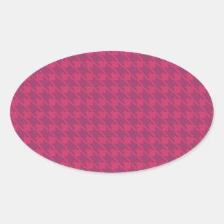 紫色のpepitoの背景 楕円形シール