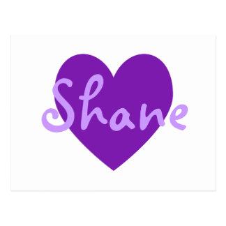 紫色のShane ポストカード