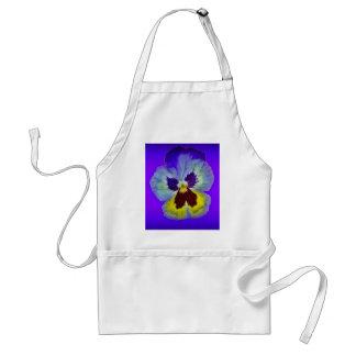 紫色のSharles著パンジーのアメジストによって着色されるギフト スタンダードエプロン