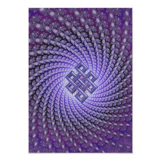 紫色のSpralのフラクタルのケルト人のダイヤモンド カード