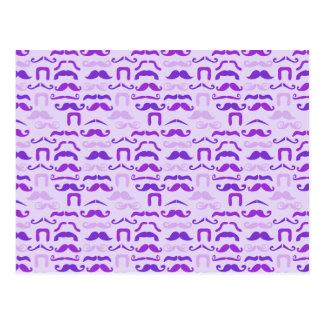 紫色のStache ポストカード