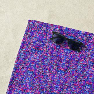 紫色はビーチタオル泡立ちます ビーチタオル