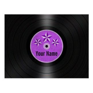 紫色は名前入りなレコードのアルバムを主演します ポストカード