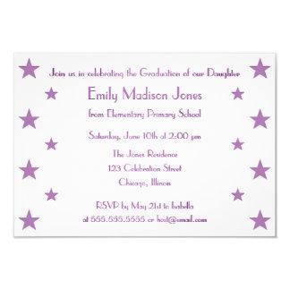 紫色は学校の卒業のパーティの招待状を主演します 8.9 X 12.7 インビテーションカード