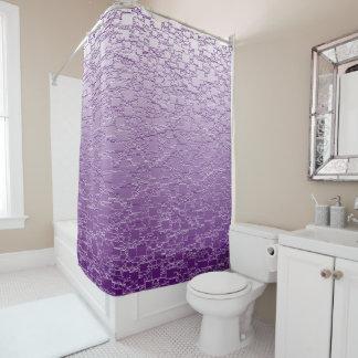 紫色は小型タイルのデザイン衰退します シャワーカーテン