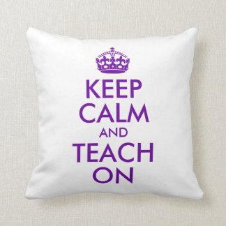 紫色は平静を保ち、教えます クッション
