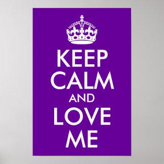 紫色は平静を保ち、私を愛します ポスター