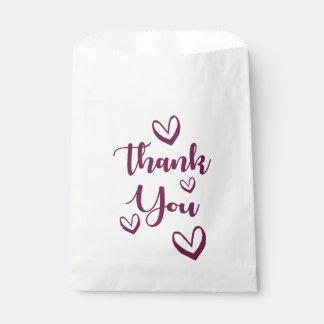 紫色は愛ハートとの-結婚式、ギフト感謝していしています フェイバーバッグ