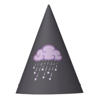 紫色は落下星が付いている雨雲をカールします パーティーハット