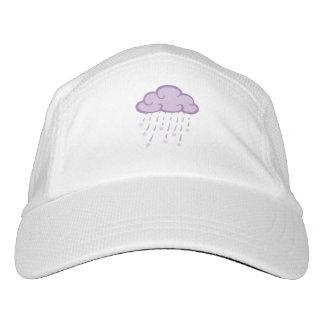 紫色は落下星が付いている雨雲をカールします ヘッドスウェットハット