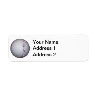 紫色は野球/ソフトボールをステッチします ラベル