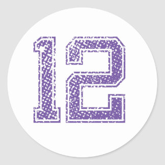 紫色はJerzee数12.pngを遊ばします ラウンドシール