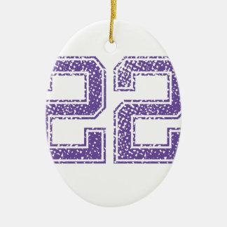 紫色はJerzee数22.pngを遊ばします セラミックオーナメント