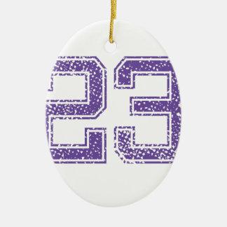 紫色はJerzee数23.pngを遊ばします セラミックオーナメント