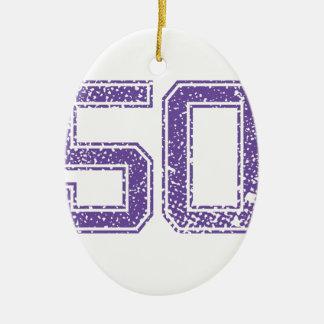 紫色はJerzee数50.pngを遊ばします セラミックオーナメント