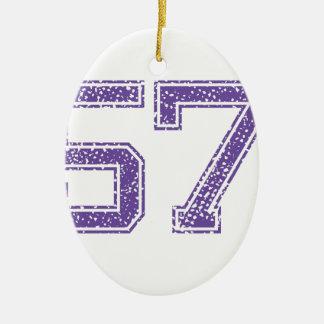 紫色はJerzee数57.pngを遊ばします セラミックオーナメント