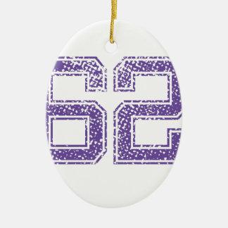 紫色はJerzee数62.pngを遊ばします セラミックオーナメント