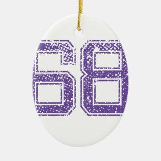 紫色はJerzee数68.pngを遊ばします セラミックオーナメント