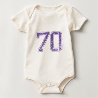 紫色はJerzee数70.pngを遊ばします ベビーボディスーツ