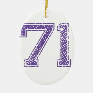 紫色はJerzee数71.pngを遊ばします セラミックオーナメント