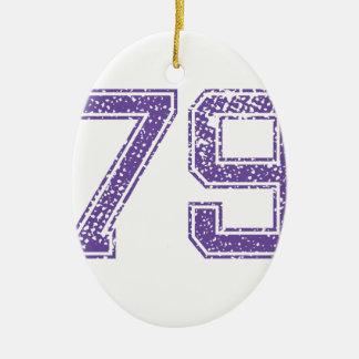 紫色はJerzee数79.pngを遊ばします セラミックオーナメント