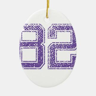 紫色はJerzee数82.pngを遊ばします セラミックオーナメント