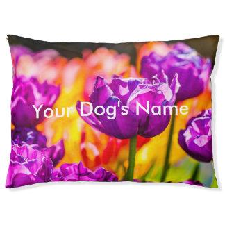 紫色を魅了しているチューリップ ペットベッド