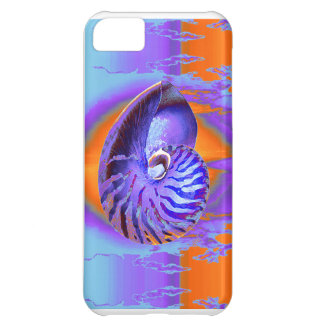 紫色オウムガイかオレンジまたは青 iPhone5Cケース