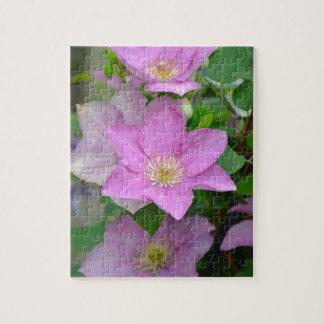 紫色クレマチスの花の花 ジグソーパズル