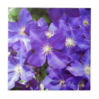 紫色クレマチス1 タイル