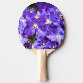 紫色クレマチス1 卓球ラケット