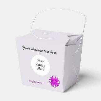 紫色クローバーのリボンのテンプレート フェイバーボックス